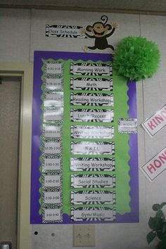 zebra labels/nameplates from Schoolgirl Style.  Monkeys from Creative Teaching Press  www.schoolgirlstyle.com