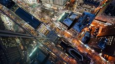 Intersection NYC // New York Rooftop Photos by Navid Baraty New York From Above, City From Above, Urban Photography, Aerial Photography, Stunning Photography, Night Photography, New York Rooftop, Tokyo, New York Pictures