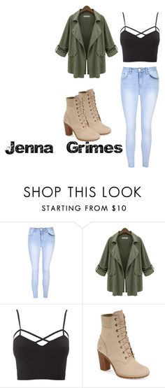 """""""Jenna Grimes- Outfit 4"""" by ariauna-smith on Polyvore featuring Glamorous, Chicnova Fashion, Charlotte Russe, Timberland and plus size clothing"""
