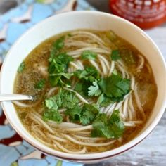Asian Chicken Noodle Soup....it will heal anything!