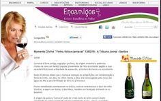 'Caravana dos Vinhos do Tejo' - 'Grande Prova Anual de Vinhos do Tejo' no site Enoamigos / Momento DiVino. Por Cláudia Oliveira (A Tribuna de Santos).