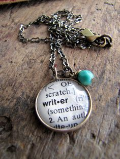 writer necklace {oh holy heck. why did i have to click on that pin. tons of cute necklaces.}