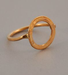 Hammered Gold Eclipse Ring  | This lovely hand-forged, hammered 14k gold-filled ring has a c... | Rings