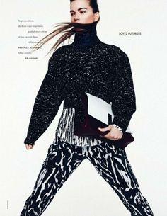 Kasia Struss by Nagi Sakai for Elle France August 2014 part II