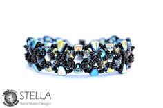 Stella reversable beadweaving bracelet with Seed beads and NIB-BIT beads.
