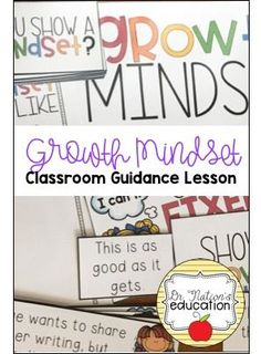 A classroom guidance lesson on growth mindset. Use in the regular classroom or school counseling program to give students a better understanding of the topic. Elementary Counseling, Counseling Activities, Career Counseling, School Counselor, Character Education, Physical Education, Guidance Lessons, Celebration Quotes, A Classroom