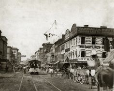 Fourth Street looking north from Chestnut Street. (1875) Missouri History Museum
