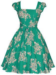 Lady Vintage Swing Dress 8 Different Prints 50s Rockabilly Size 8 18 | eBay