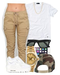 """""""11.26.15"""" by jadeessxo ❤ liked on Polyvore featuring Polo Ralph Lauren, Ray-Ban, Rolex, NIKE and Mark Davis"""