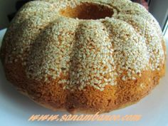 آشپزی برای صنم بانو: کیک کنجدی با طعم هل و زعفران