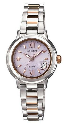 SHEEN SHW-1500SG-4A Tough Solar Watch Stainless Ladies Women Brand New -commodityocean.com