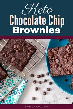 This is the best keto brownie recipe! It is super easy to make and is full of deliciousness #keto #paleo Chocolate Chip Brownies, Keto Chocolate Chips, Keto Brownies, Baking Recipes, Keto Recipes, Dessert Recipes, Desserts, Low Carb Flour, Grass Fed Butter