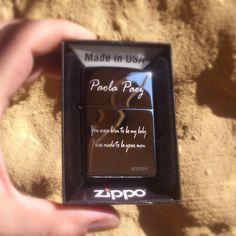 Zippo Grabado con dedicatoria y nombre. Se entrega en 15 minutos  #Zippo #Bogota #Navidad2016 #Regalos #Detalles
