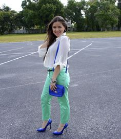 Your Outfit Today » Green and blue chic, June 20 2013