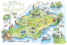 Mahe, Seychelles map by ✿ Stephannie Barba Illustration ✿