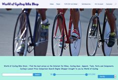 If your shopping the Internet for the best possible prices look to World of Cycling Bike Store online – Find the best prices on the Internet for Bikes, Cycling Gear, Apparel, Tools, Parts and Components. Cycling's Lowest Price Comparison Search Engine Shopper brought to you by World of Cycling