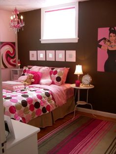 Pink and Brown Tween Room! I LOVE THE DESIGN AND COLORS!