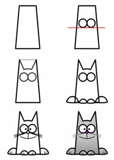 @Krystyne Brown Brown Savarese   How-to-draw-a-cat  i'd add a tail