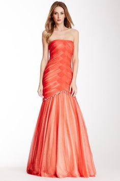Crisscross Tulle Gown by La Femme on @HauteLook