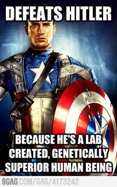 Capt. America Irony