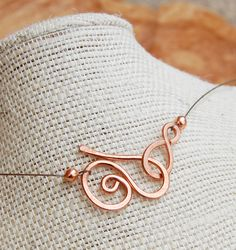 Minimalist. Copper. Double. Spiral. Necklace.. $20.00, via Etsy.