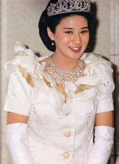 Princess Kiko Fumihito Of Japan with Royal Crown And Jewels