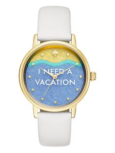 Keep yourself on island time with this kate spade new york metro watch. How ADORABLE is this!?! Shared in partnership with @katespadeny. #vacationisastateofmind