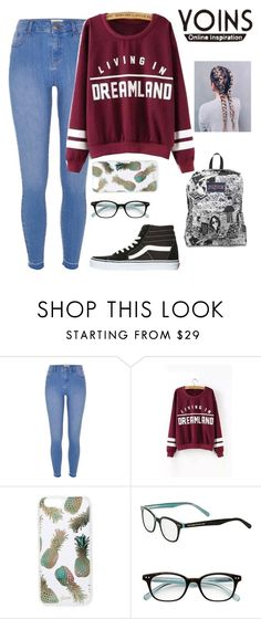 """""""&&-Contest-Yoins:Win Sweatshirt!"""" by paigebrad ❤ liked on Polyvore featuring River Island, Sonix, Kate Spade, Vans and JanSport"""