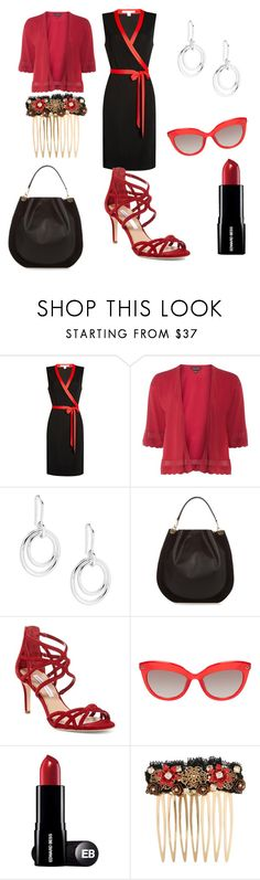 """""""black and red"""" by shannongarner ❤ liked on Polyvore featuring Diane Von Furstenberg, Dorothy Perkins and Dolce&Gabbana"""