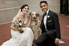 I love seeing couples incorporate their animals into their weddings. They are the best friends we will ever have. #MumuXWattersX100LC