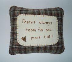 Novelty Cat Pillow  Cat Bed Pillow  Brown Wool by ThePineappleCatz