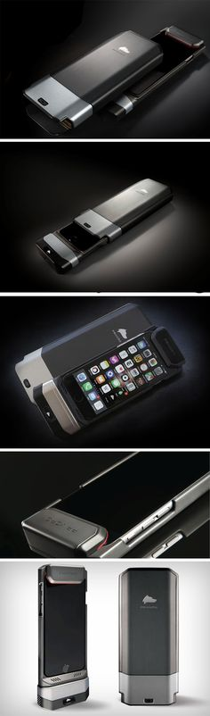 The Privoro Privacy Guard is a literal Faraday Cage for your iPhone. Privoro's Privacy Guard is a rather bulky case that traps your iPhone in limbo, blocking its cameras, ports, masking its microphones, and even preventing remote RF tracking and location tracking. It comes with a hood that opens and closes, allowing you to toggle between security modes.