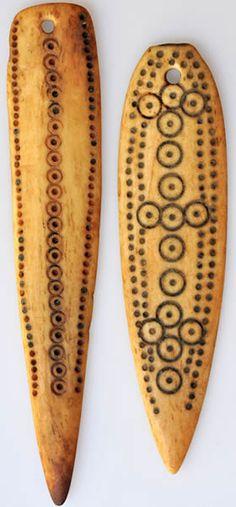 two old Ethiopian bone pendants Early 1900s