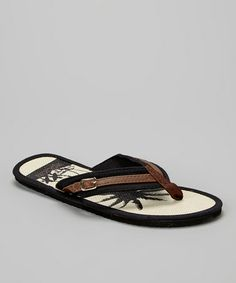 6e8a65867a3 Look what I found on  zulily! Black Paradise Flip-Flop - Men by