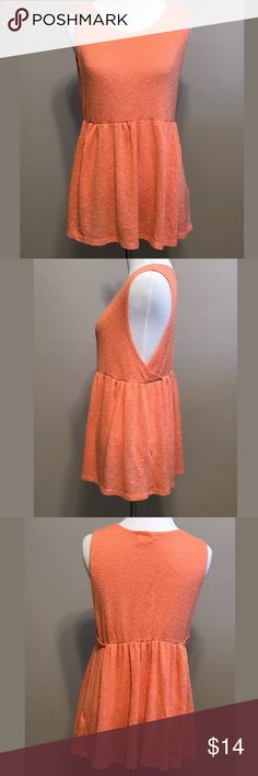 Pins & Needles Women's Sweater Knit Babydoll Tank Pins & Needles Women's Orange Sweater Knit Babydoll Tank Top SZ S  EUC- No holes, rips or stains  Measurements are approximate:  15.5 inches armpit to armpit- Laying flat & not stretched Pins & Needles Tops Tank Tops