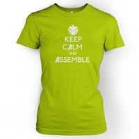 Something Geeky PP - Keep Calm And Assemble Womens T Shirt Inspired By The Avengers