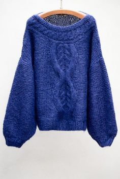 Check out our blue TESS pullover by Mes Demoiselles. Knitwear Fashion, Crochet Fashion, Winter Typ, Cozy Sweaters, High Collar, Sweater Weather, Autumn Winter Fashion, Tweed, Fall Outfits