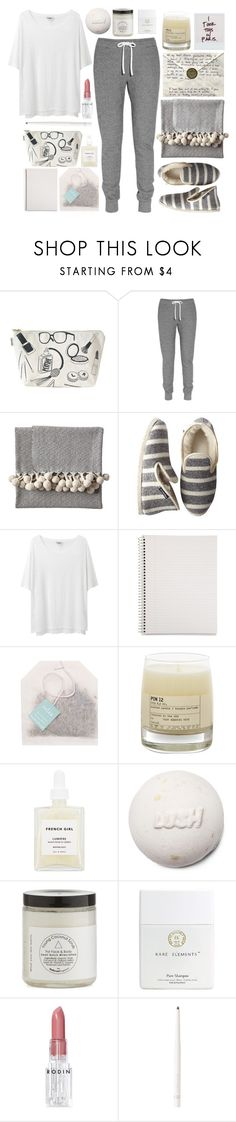 """""""Staycation"""" by prettyorchid22 ❤ liked on Polyvore featuring Maptote, Aubin & Wills, Serena & Lily, Mark & Graham, Acne Studios, Mead, Paper Source, Le Labo, French Girl and Rodin"""