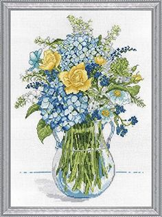 Design Works Blue and Yellow Floral Counted Cross Stitch Kit Design Works http://www.amazon.com/dp/B00WJ13QYK/ref=cm_sw_r_pi_dp_KeRqvb0ESFT56