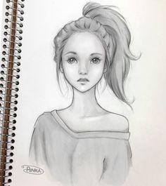 Image result for girl sketch