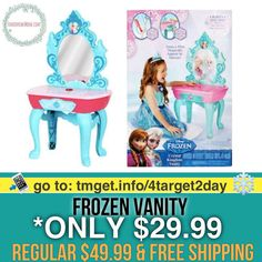 Frozen  Play Vanity $29.99 (Regular $49.99)  FREE SHIPPING Click link in my bio @tomorrowsmom -read . .  Type this link on your browser: . http://tmget.info/4target2day  or follow the link in my Bio a@Tomorrowsmom at TomorrowsMom.com #tomorrowsmom . #holidays #christmas #gifts #frugal #savings #deals #couponcommunity #fitcommunity