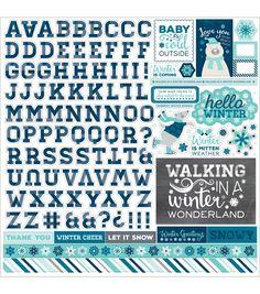 Echo Park Paper Company™ Hello Winter Cardstock Stickers-Alpha