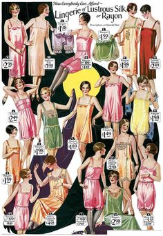Vintage Lingerie underwear ladies - A look at and pretty lingerie as seen in advertisements, catalogs and photographs of movies stars. Vintage Outfits, 1920s Outfits, Vintage Fashion, Pub Vintage, Moda Vintage, Pretty Lingerie, Vintage Lingerie, Vintage Underwear, Women's Underwear