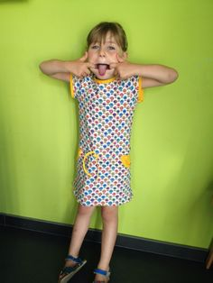 fotomodel Elies met candy-jurkje van la maison victor
