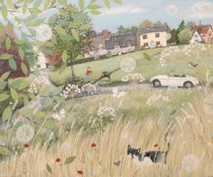 Lucy Grossmith of Heart To Art can create a work of art completely unique and personal to you whether it be for your own home or a gift for someone special. Art And Illustration, Illustrations, Flower Meanings, Naive Art, Art For Art Sake, Whimsical Art, Cat Art, Amazing Art, Folk Art