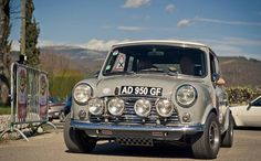 Mini Cooper - kitted out for competitive rallying