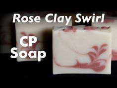 Rose Clay Feather Swirl Soap with Hearts on Top - YouTube
