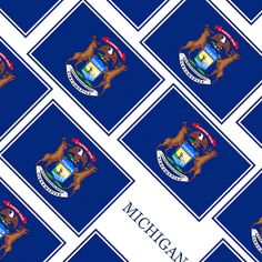 Smartphone Case - State Flag of Michigan - Diagonal I