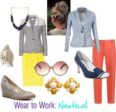 """""""Wear to Work: Nautical"""" by ashley-pearman on Polyvore"""