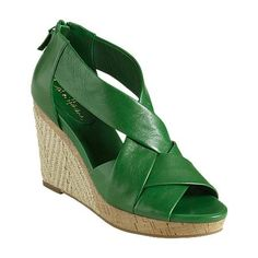 Cole Haan and the prefect green! #shoes, #sandals